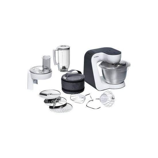 Bosch MUM5 MUM52120 - køkkenmaskine - 700 W - hvid/sølv