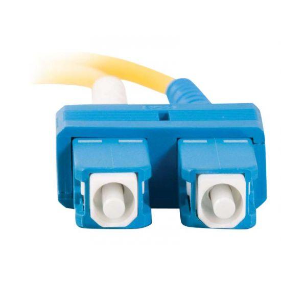 C2G SC-SC 9/125 OS1 Duplex Singlemode PVC Fiber Optic Cable (LSZH)