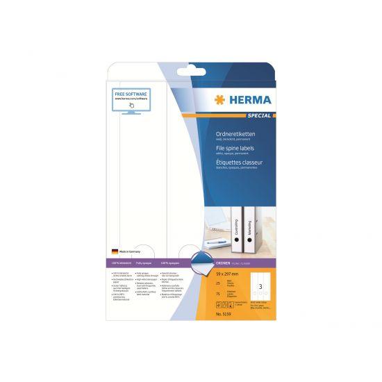 HERMA Special - uigennemsigtige mappemærkater - 75 etikette(r) - 59 x 297 mm