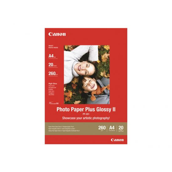 Canon Photo Paper Plus Glossy II PP-201 - fotopapir - 20 ark - A3 Plus
