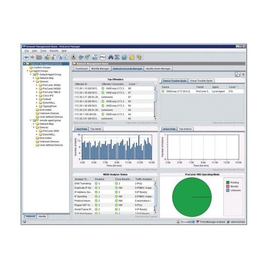 HPE ProCurve Network Immunity Manager (v. 2.0) - licens - 100 enheder