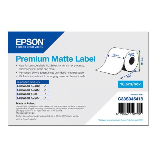 Epson Premium - mærkater fortløbende papir - 1 rulle(r)