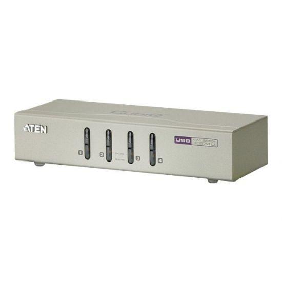 ATEN CS74U - KVM / audio-switch - 4 porte