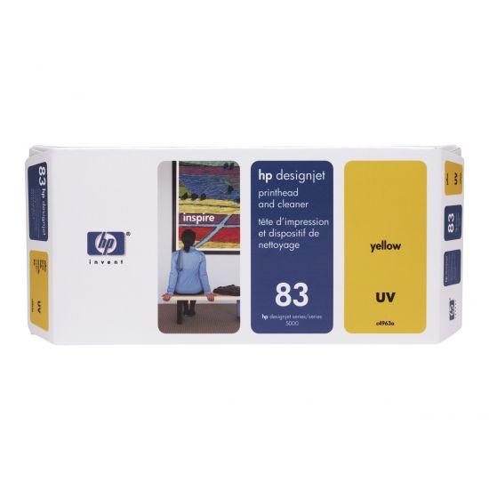 HP 83 - gul - printhoved med renser
