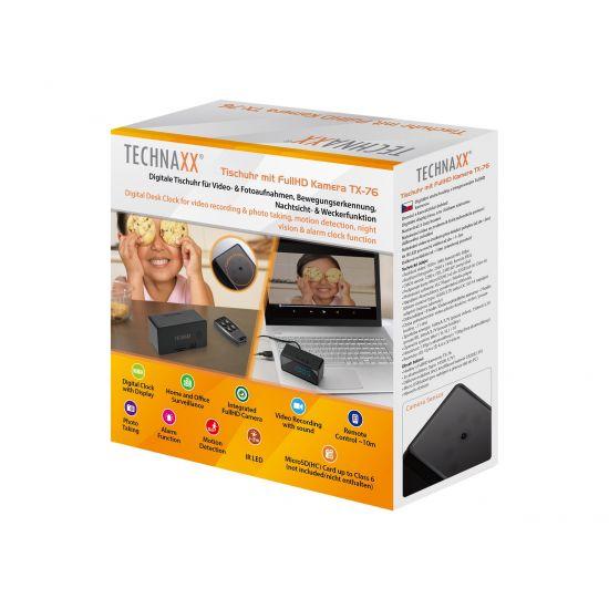 Technaxx Desk Clock with FullHD Camera TX-76