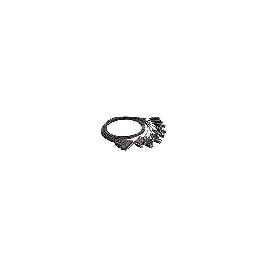 Moxa Opt8D+ - serielt kabel - 1 m