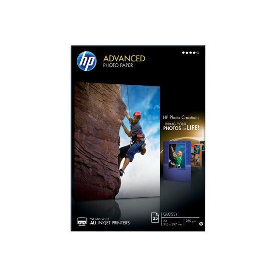 HP Advanced Glossy Photo Paper - fotopapir - 25 ark - A4 - 250 g/m²
