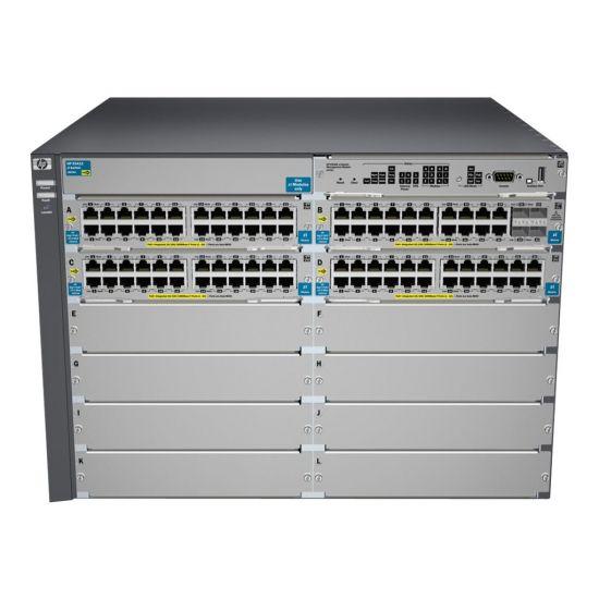 HPE Aruba 5412-92G-PoE+-4G v2 zl - switch - 92 porte - Administreret - monterbar på stativ - med HP 5400 zl Switch Premium License