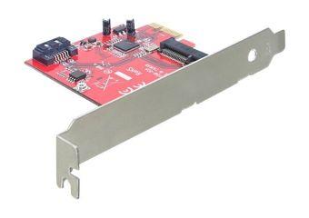 DeLOCK PCI Express Card > Hybrid 1 x internal SATA 6 Gb/s + 1 x internal mSATA