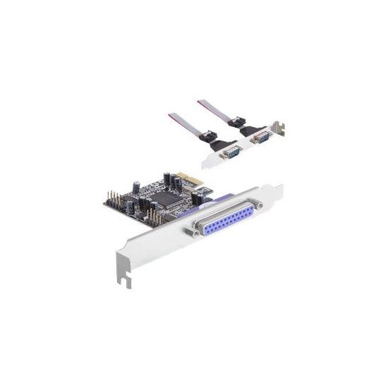 DeLock PCI Express Card - parallel/seriel adapter - 3 porte
