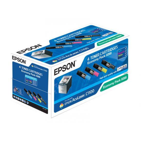 Epson Economy Pack - 4 pakker - sort, gul, cyan, magenta - original - tonerpatron