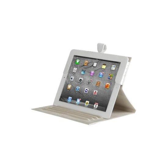 D. Bramante 9.7´´ Folio til iPad 2, 3 og 4 i Glat hvid Læder