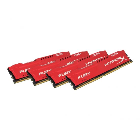 HyperX FURY &#45 64GB: 4x16GB &#45 DDR4 &#45 2933MHz &#45 DIMM 288-PIN