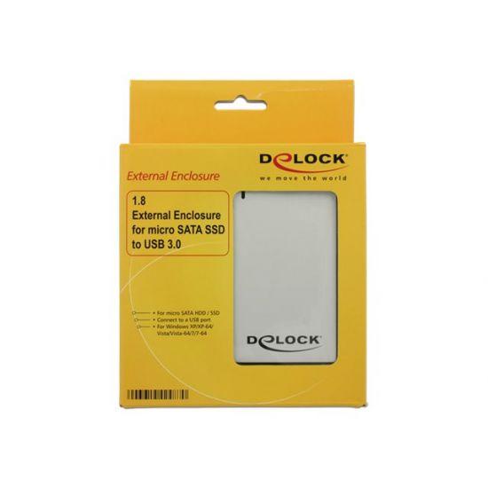 DeLOCK 1.8 External Enclosure micro SATA HDD / SSD > USB 3.0