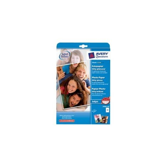 Avery Zweckform Classic Photo Paper Glossy 2496-50 - fotopapir - 50 ark - A4 - 180 g/m²