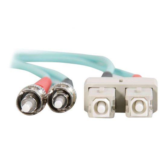 C2G SC-ST 10Gb 50/125 OM3 Duplex Multimode PVC Fiber Optic Cable (LSZH)