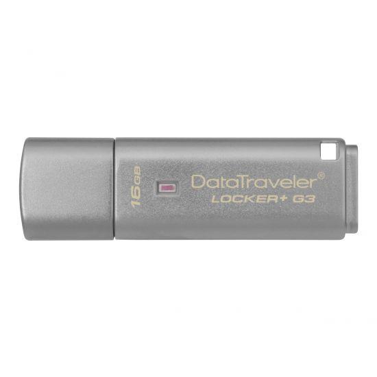 Kingston DataTraveler Locker+ G3 - USB flashdrive - 16 GB