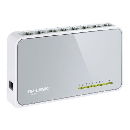 TP-Link TL-SF1008D 8-Port 10/100Mbps Desktop Switch - switch - 8 porte