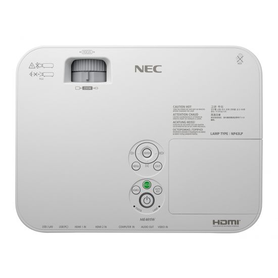 NEC ME401W - ME Series - LCD-projektor - bærbar - LAN