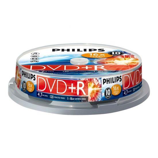 Philips DR4S6B10F - DVD+R x 10 - 4.7 GB - lagringsmedie