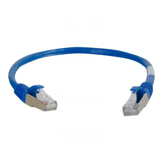 C2G Cat6a Booted Shielded (STP) Network Patch Cable - patchkabel - 1.5 m - blå