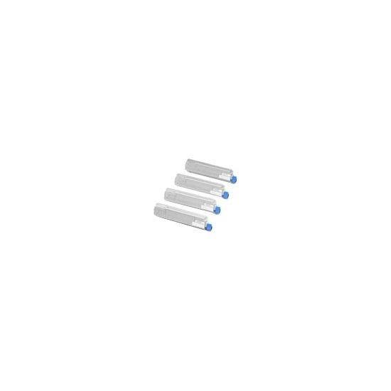 OKI Rainbow Pack - 4 pakker - sort, gul, cyan, magenta - original - tonerpatron