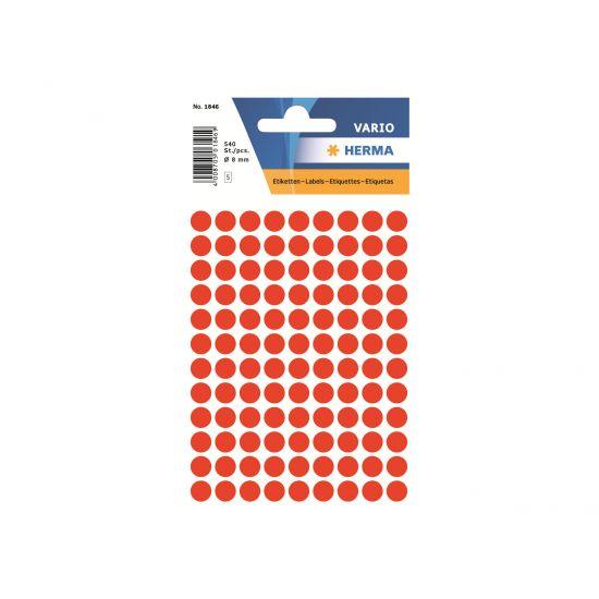 HERMA - etiketter - 540 etikette(r) - 8 mm rund