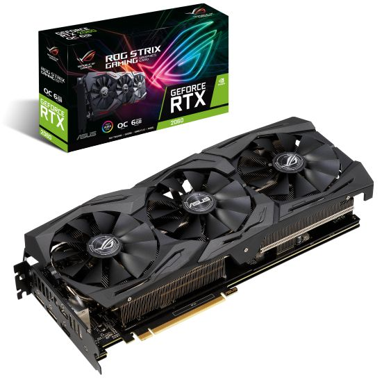ASUS ROG-STRIX-RTX2060-O6G-GAMING - NVIDIA RTX2060 6GB GDDR6