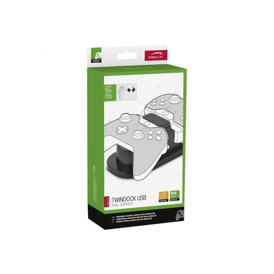 SPEEDLINK TWINDOCK USB Dual Charger - opladningsstander