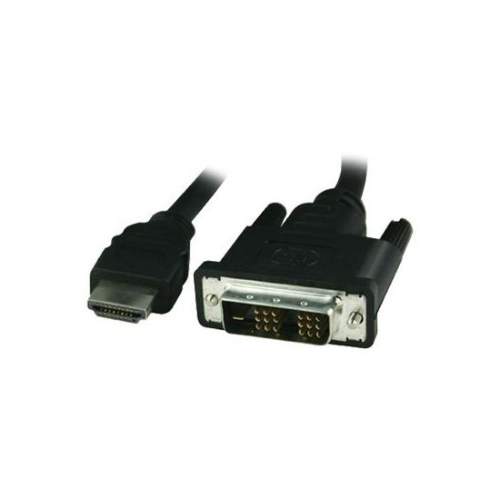 Deltaco HDMI til DVI (Single-Link) - 2 m