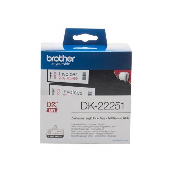 Brother DK-22251 - mærkater fortløbende papir - 1 rulle(r)