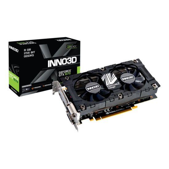 Inno3D GeForce GTX 1070 X2 V4 &#45 NVIDIA GTX1070 &#45 8GB GDDR5 - PCI Express 3.0 x16
