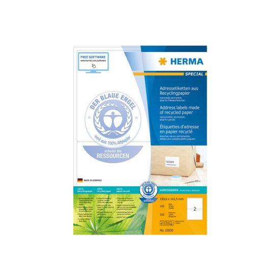 HERMA Special - adresseetiketter - 200 stk. - 199.6 x 143.5 mm