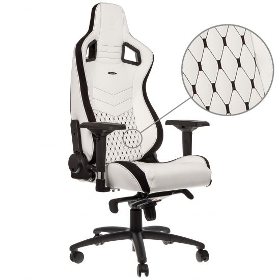noblechairs EPIC Series Faux Leather White/Black
