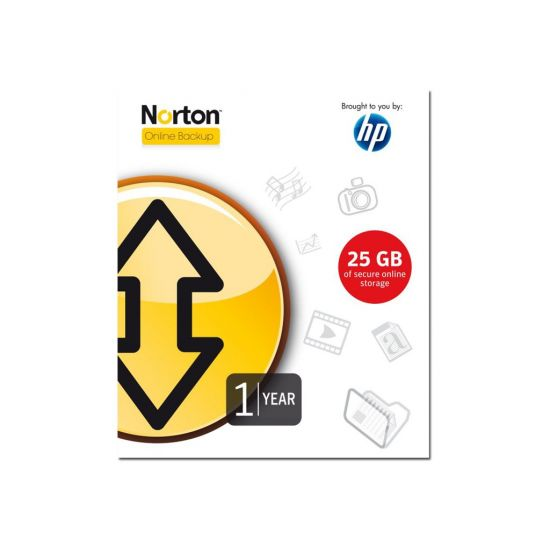 Norton Online Backup - licens (1 år) - 5 PC'er, 25 GB klient backup