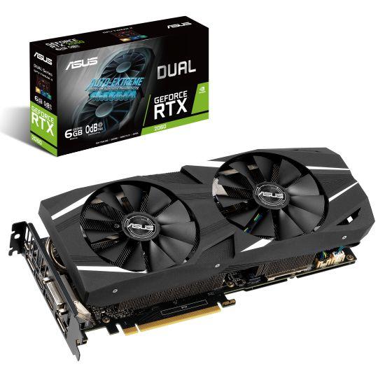 ASUS DUAL-RTX2060-O6G - NVIDIA RTX2060 6GB GDDR6