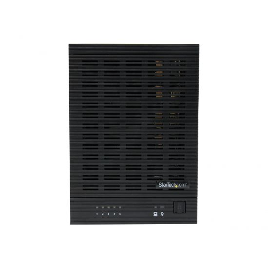 "StarTech.com USB 3.0 / eSATA 5-Bay Hot-Swap 2.5/3.5"" SATA III Hard Drive Enclosure with UASP - lagringskabinet"