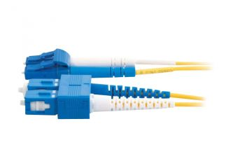 C2G LC-SC 9/125 OS1 Duplex Singlemode PVC Fiber Optic Cable (LSZH)