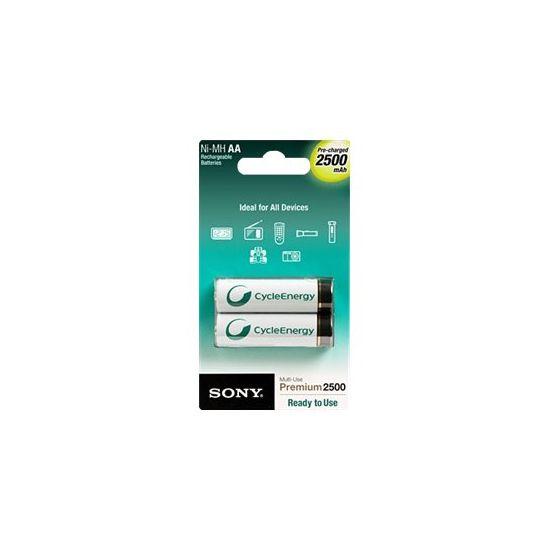 Sony Premium NH-AA-B2GN - batteri - AA type - NiMH x 2