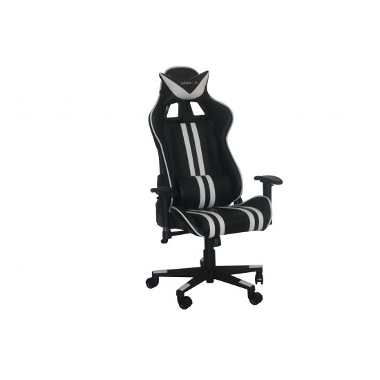 GEAR4U Elite Gamer Stol Sort/Hvid