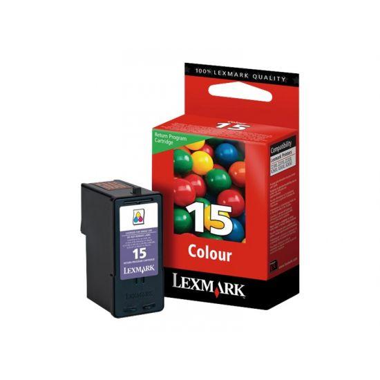 Lexmark Cartridge No. 15 - farve (cyan, magenta, gul) - original - blækpatron - LRP