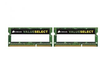 Corsair Value Select &#45 16GB: 2x8GB &#45 DDR3 &#45 1600MHz &#45 SO DIMM 204-PIN