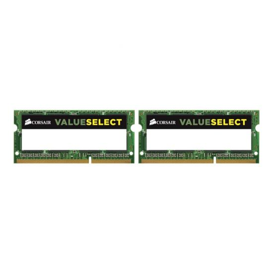 Corsair Value Select &#45 16GB: 2x8GB &#45 DDR3 &#45 1600MHz &#45 SO DIMM 204-PIN - CL11