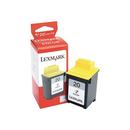 Lexmark Cartridge No. 20 - gul, cyan, magenta - original - blækpatron