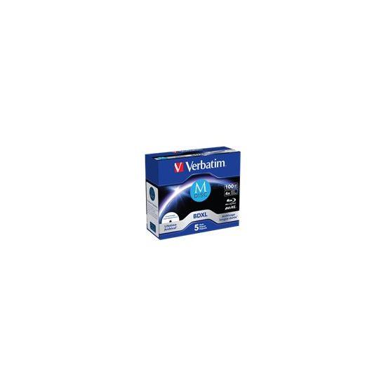 Verbatim M-Disc - BD-R XL x 5 - 100 GB - lagringsmedie