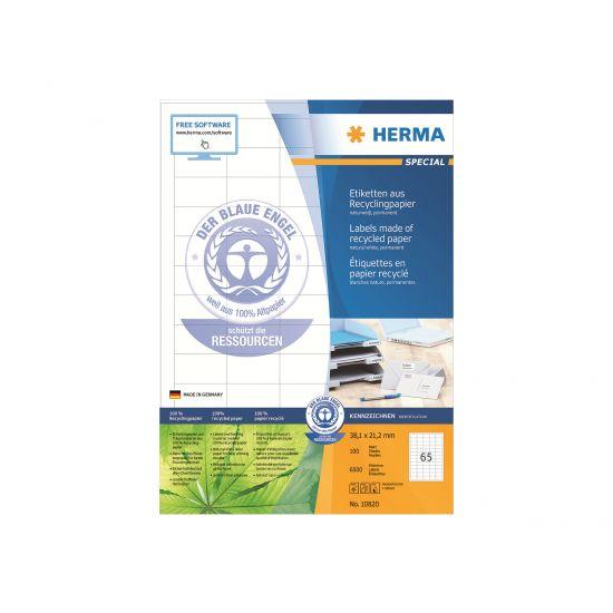 HERMA Special - genbrugs etiketter - 6500 stk. - 21.2 x 38.1 mm