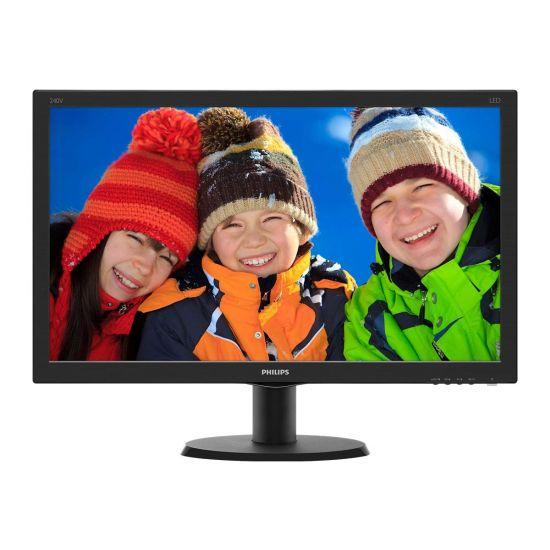"""Philips V-line 240V5QDSB &#45 WLED 24"""" ADS-IPS - Full HD 1920x1080 ved 60Hz"""