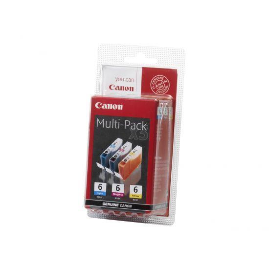 Canon BCI-6 Multipak Printerpatroner (gul, cyan, magenta)