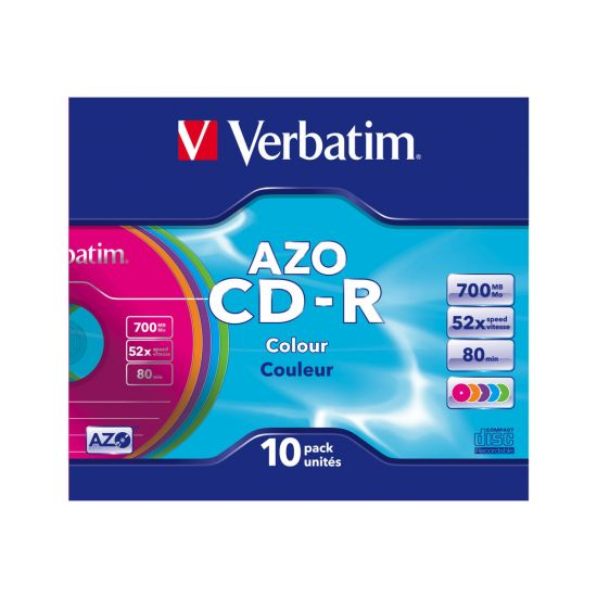Verbatim AZO Colours - CD-R x 10 - 700 MB - lagringsmedie