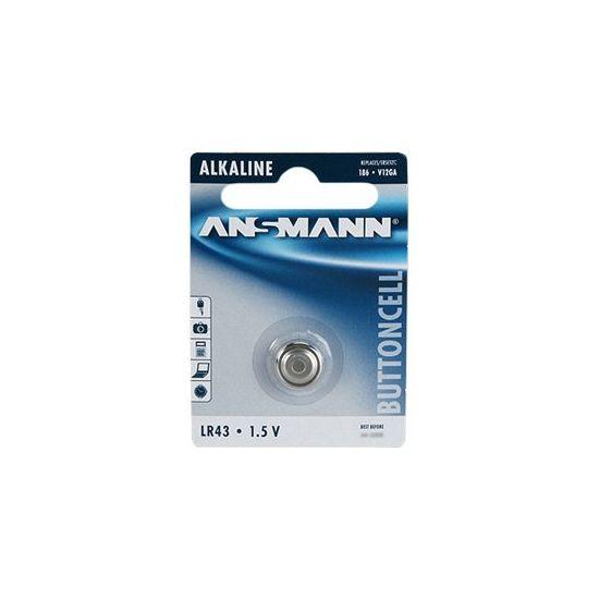ANSMANN batteri - LR43 - Alkalisk